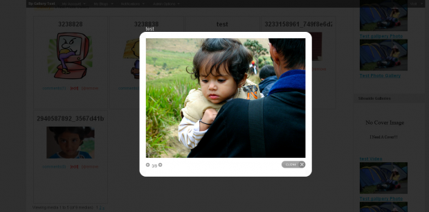 Pretty Photo Media Plugin Screenshot